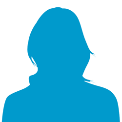 Female Silhouette Icon Image Blue