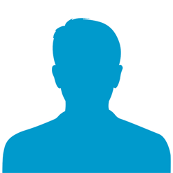 Male Silhouette Icon Image Blue