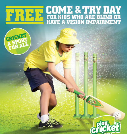 2017 Vision Impaired Cricket Schools Come & Try Day